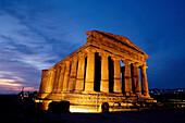 Concordia Tempel, Agrigent Sizilien, Italien