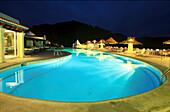 Hotel La Hacienda bei Nacht, Ibiza, Balearen Spanien