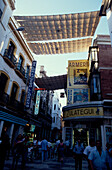 Pedestrian shopping area, Calle de las Sierpes, Seville, Andalusia, Spain