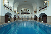Interior view of Muellersches Volksbad, Indoor swimming pool, Munich, Bavaria, Germany