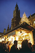 Christkindlmarkt on Marienplatz, Munich, Bavaria, Germany