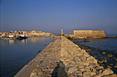 Harbour promenade with view of Chania, Crete, Greece