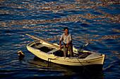Fischer am Hafen, Chania, Kreta Griechenland