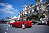 Convertible parked in front of the Casino, Monte Carlo, Monte Carlo, Monaco, Cote D'Azur