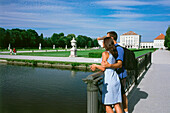 Couple in front of Castle Nymphenburg, Munich