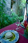 Caribbian dessert, Cocosflan, Restaurant Leyritz, Basse, Pointe, Martinique, Caribbean