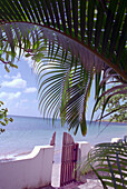 Beach with gate, Accommodation Mirage, Laborie, St. Lucia, Caribbean