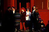 Jugendliche, Temple Bar District, Dublin Irland