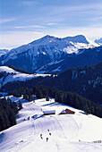 Skiing, Slope, Ski Region Gstaad Switzerland