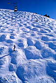 Winter skiing region with ski slope, Glacier des Diablerets, Ski Region Gstaad, Bernese Alps, Switzerland