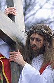 Jesus Christ played by a priest, The Mystery of the passion of Christ Kalwaria Zebrzydowska, Cracow, Poland