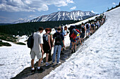 Crowded trail to Gasienicowa Alp, High Tatras, Poland