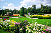 Baroque gardens in Wilanow Park in Warsaw, Warsaw, Poland