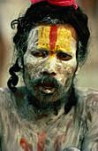 Bemalter Sadhu, Indien