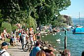 Seepromenade, Lake Zurich, Zuerich, Switzerland, Europe