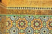 Detail inside the Saadien tomb, Marrakesh, Morocco, Africa