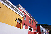 Colourful facades at Malay quarter, Bo-Kaap, Cape Town, South Africa, Africa