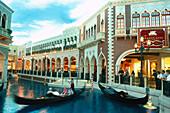 Gondola inside the Venetian Resort Hotel, Las Vegas Nevada, USA, America