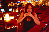 Lady at Peppermill Lounge, The Strip, Las Vegas Nevada, USA