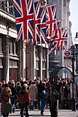 Shoppers in the Regent Street, London, England, Great Britain