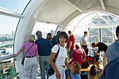 Aboard the London Eye, London Eye, London, England, Great Britain
