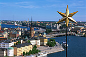 View over Stockholm and Stadhuset, Stockholm, Sweden