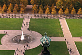 View from Berlin Cathedral to Lustgarten pleasure garden, , Berlin, Germany