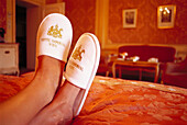 Feet up, Hotel Imperial, Vienna, Austria