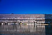 Reflection of Piazza San Marco, flood, Aqua alta, Venice, Veneto, Italy