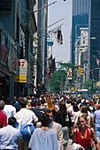 Crowds of Fifth Avenue, Manhattan, New York USA
