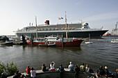 Queen Mary 2 at Hamburg Harbour, Hamburg, Germany