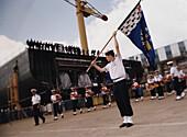 Queen Mary 2, Ceremony-Shipyard in Saint-Nazaire, Kiellegungszeremonie