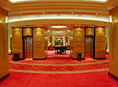 Elevator and corridors of grand lobby, Queen Mary
