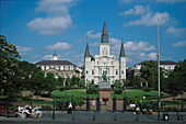 French Quarter, Jackson-Square, St. Louis Cathedral, New Orleans Louisiana, USA