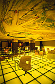 Deserted bar and lounge at the Hudson Hotel, Manhattan, New York, USA, America