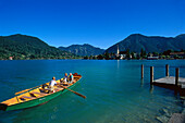 Rowing boat ferry, Tegernsee-Rottach-Egern Bavaria, Germany