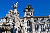 Piazza della Unita d' Italia, Trieste, Friuli Italy