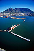 Aerial view of harbour, Cape Town, South Africa