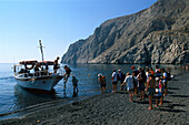 Boat trip from Kamari Beach, Santorin Kykladen, Greece