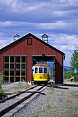 Railway station in Whitehorse, Miles Canyon Historic Railway, Whitehorse, Yukon Territory, Canada