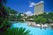 Pool at Mandalay Bay Hotel, Las Vegas, Nevada, USA