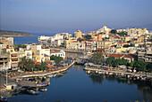 Hafen, Voulismeni-See, Agios Nikolaos Kreta, Griechenland