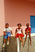 Children in Santa Maria, Santa Maria, Sal, Cape Verde Islands, Africa