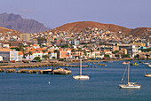 View at the seaport Mindelo, Sao Vicente, Cape Verde Islands, Africa