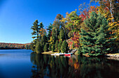 Lakeside at fall, P. Quebec Canada