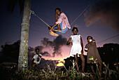 Playing children, Port Antonio, Jamaica, Carribean