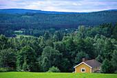 Lonesome farm house at idyllic scenery, Vetlanda, Smaland, Sweden, Europe