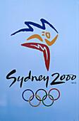 Logo der olympischen Spiele 2000, Olympia Zentrum, Homebush Bay Sydney, New South Wales, Australien
