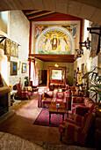Interior view of the gorgeous parlour of Finca Monnaber Nou, Tramuntura, Majorca, Spain