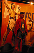 Presentation of boxers Little Italy and Afro Savage, boxing event, Fred Brophy's Boxing Troupe, Australien